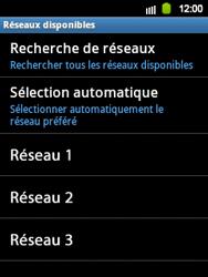 Samsung Galaxy Y - Réseau - Sélection manuelle du réseau - Étape 9