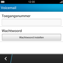 BlackBerry Q5 - Voicemail - Handmatig instellen - Stap 6