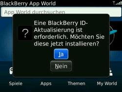 BlackBerry Bold - Apps - Konto anlegen und einrichten - 5 / 19