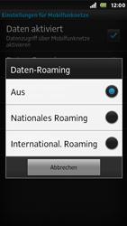 Sony Xperia U - Ausland - Im Ausland surfen – Datenroaming - Schritt 9