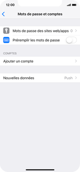 Apple iPhone X - iOS 12 - E-mail - Configuration manuelle - Étape 4