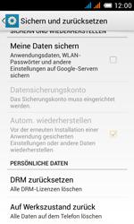 Alcatel One Touch Pop C3 - Gerät - Zurücksetzen auf die Werkseinstellungen - Schritt 6