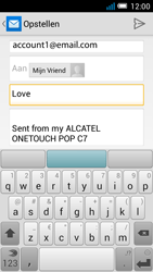 Alcatel OT-7041X Pop C7 - e-mail - hoe te versturen - stap 8