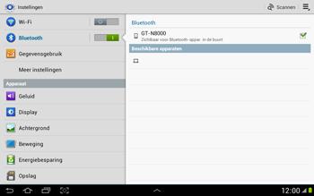 Samsung N8000 Galaxy Note 10-1 - Bluetooth - koppelen met ander apparaat - Stap 7