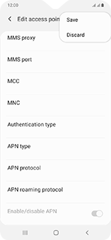 Samsung Galaxy A20e - Internet - Manual configuration - Step 17