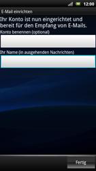 Sony Ericsson Xperia X10 - E-Mail - Konto einrichten - Schritt 16