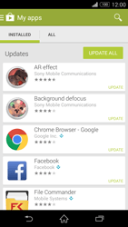 Sony Xperia Z3 Compact - Applications - How to check for app-updates - Step 6