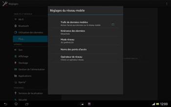 Sony Xperia Tablet Z LTE - Internet et roaming de données - Désactivation du roaming de données - Étape 8