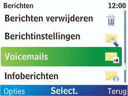 Nokia C3-00 - Voicemail - Handmatig instellen - Stap 5