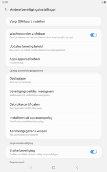Samsung galaxy-tab-a-8-0-lte-2019-sm-t295 - Beveiliging en ouderlijk toezicht - Hoe wijzig ik mijn SIM PIN-code - Stap 6