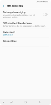 Samsung Galaxy Note9 - sms - handmatig instellen - stap 8
