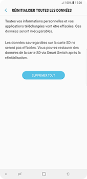 Samsung Galaxy Note9 - Téléphone mobile - Réinitialisation de la configuration d