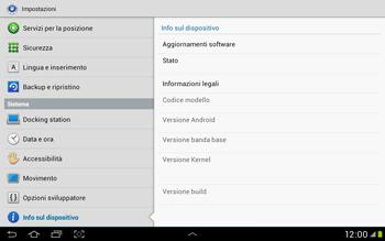 Samsung Galaxy Tab 2 10.1 - Software - Installazione degli aggiornamenti software - Fase 6