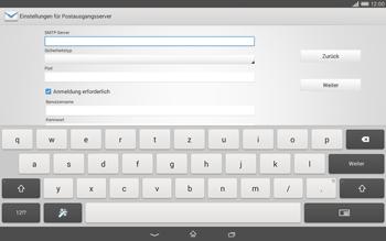 Sony Xperia Tablet Z2 LTE - E-Mail - Konto einrichten - Schritt 12
