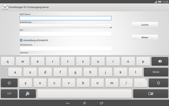 Sony Xperia Tablet Z2 LTE - E-Mail - Manuelle Konfiguration - Schritt 12