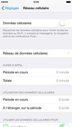 Apple iPhone 6 iOS 8 - Internet et roaming de données - Comment vérifier que la connexion des données est activée - Étape 4