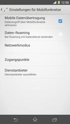 Sony Xperia Z1 - Netzwerk - Manuelle Netzwerkwahl - Schritt 6