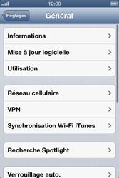Apple iPhone 4 - Internet et roaming de données - Désactivation du roaming de données - Étape 4