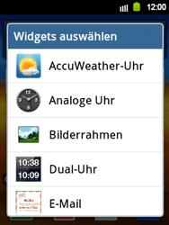 Samsung Galaxy Y - Startanleitung - Installieren von Widgets und Apps auf der Startseite - Schritt 4