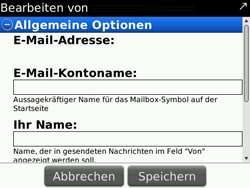 BlackBerry Bold - E-Mail - Konto einrichten - 0 / 0