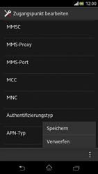 Sony Xperia V - Internet und Datenroaming - Manuelle Konfiguration - Schritt 15