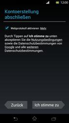 Sony Xperia T - Apps - Konto anlegen und einrichten - Schritt 10