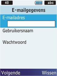 Samsung C3350 Xcover 2 - E-mail - Handmatig instellen - Stap 14