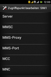 Sony Xperia Tipo Dual - MMS - Manuelle Konfiguration - 1 / 1