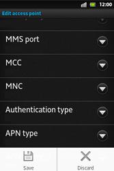 Sony ST27i Xperia Go - MMS - Manual configuration - Step 15