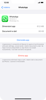 Apple iPhone 11 - Applicazioni - Come disinstallare un