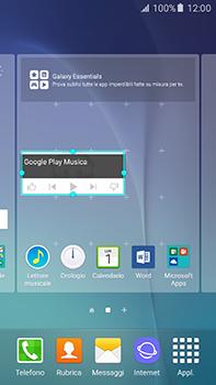 Samsung Galaxy A8 - Operazioni iniziali - Installazione di widget e applicazioni nella schermata iniziale - Fase 8