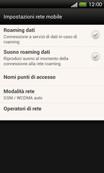 HTC One SV - Internet e roaming dati - Disattivazione del roaming dati - Fase 5