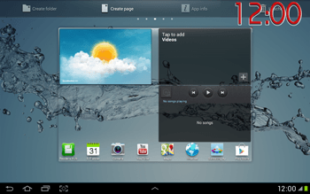 Samsung Galaxy Tab 2 10.1 - Getting started - Installing widgets and applications on your start screen - Step 9