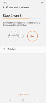 Samsung galaxy-a51-sm-a515f - Contacten en data - Contacten kopiëren van SIM naar toestel - Stap 11