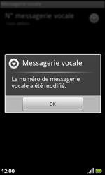 Acer Liquid S100 - Messagerie vocale - configuration manuelle - Étape 8