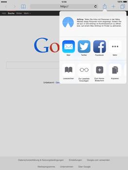 Apple iPad mini iOS 8 - Internet und Datenroaming - Verwenden des Internets - Schritt 7