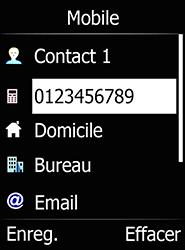 Doro 6520 - Contact, Appels, SMS/MMS - Ajouter un contact - Étape 6