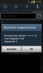 Samsung S7390 Galaxy Trend Lite - Contactgegevens overzetten - delen via Bluetooth - Stap 12