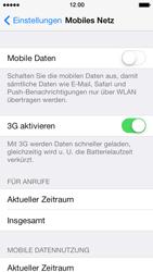 Apple iPhone 5 iOS 7 - Internet und Datenroaming - Prüfen, ob Datenkonnektivität aktiviert ist - Schritt 4