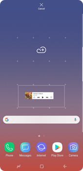 Samsung Galaxy Note9 - Getting started - Installing widgets and applications on your start screen - Step 6