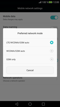 Huawei Mate S - Network - Change networkmode - Step 7