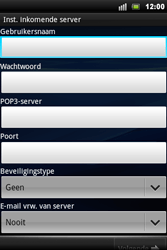 Sony Ericsson Xperia Mini Pro - E-mail - handmatig instellen - Stap 7