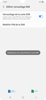 Samsung Galaxy A50 - Sécurité - modifier SIM PIN - Étape 12