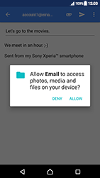Sony Xperia XZ (F8331) - Android Nougat - E-mail - Sending emails - Step 11