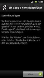 Sony Xperia Sola - Apps - Konto anlegen und einrichten - 5 / 19