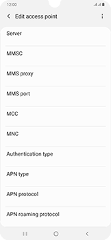 Samsung Galaxy A50 - Internet and data roaming - Manual configuration - Step 16