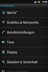 Sony Xperia Go - Netzwerk - Netzwerkeinstellungen ändern - 4 / 7
