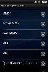 Sony Xperia Mini Pro - MMS - Configuration manuelle - Étape 9