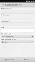 Sony Xperia S - E-mail - Configuration manuelle - Étape 10