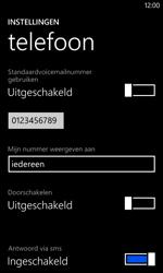 Nokia Lumia 625 - Voicemail - Handmatig instellen - Stap 8
